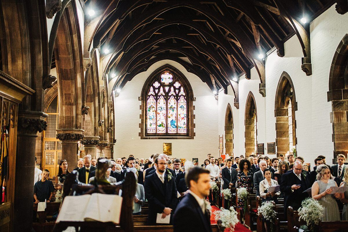 Wedding ceremony at St Thomas's Church Whitley