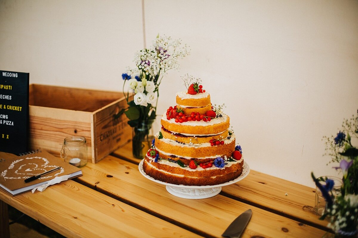 Homemade naked cake
