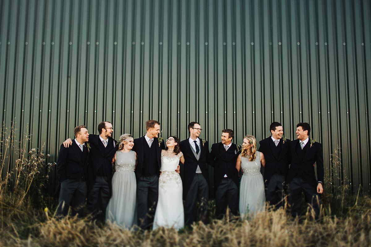 Fun outdoor wedding photography