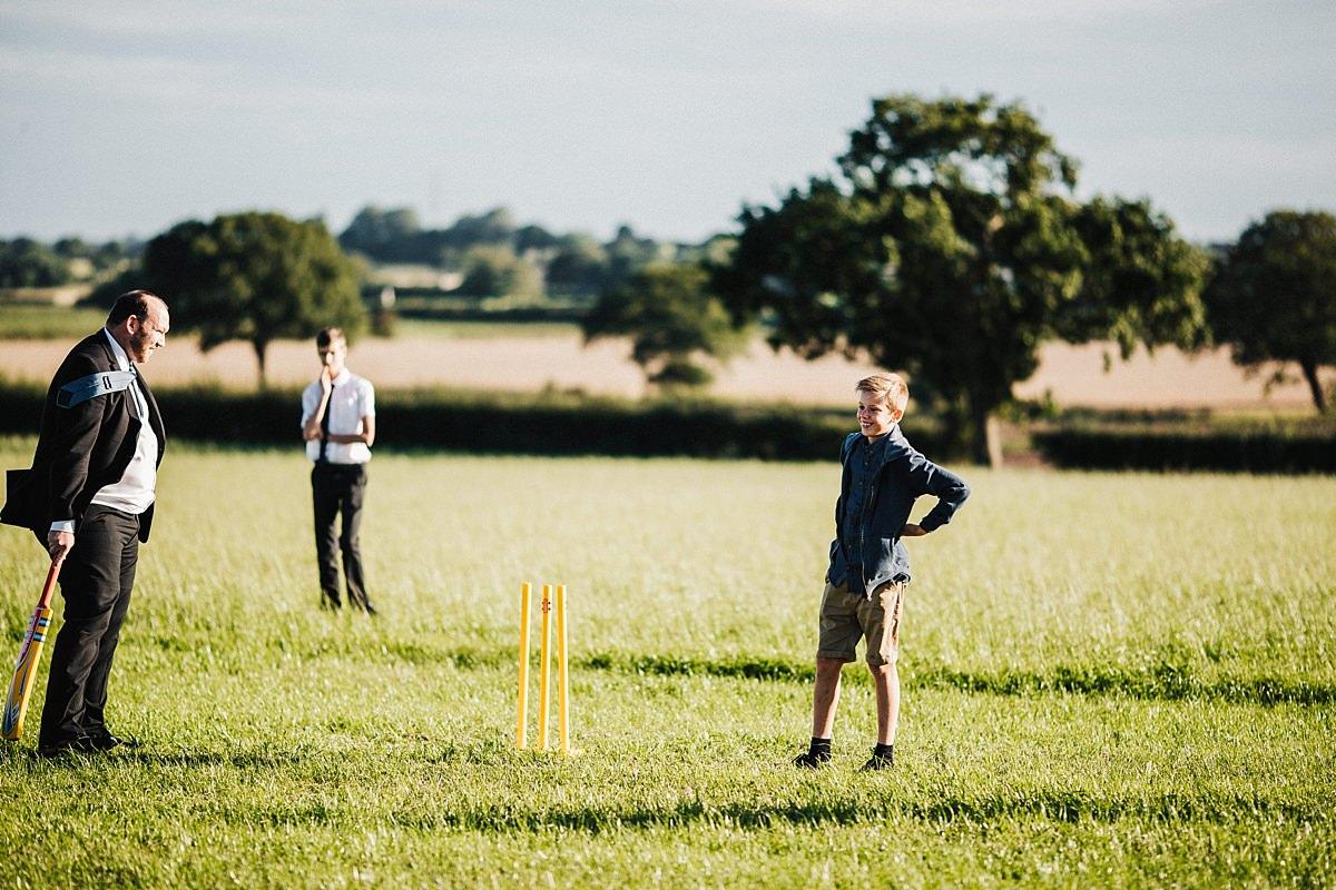 Game of wedding cricket