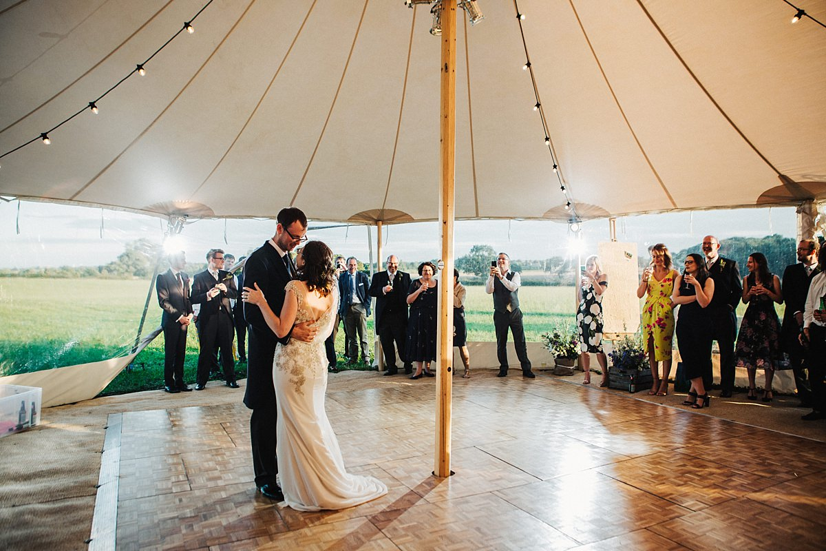 First dance marquee wedding