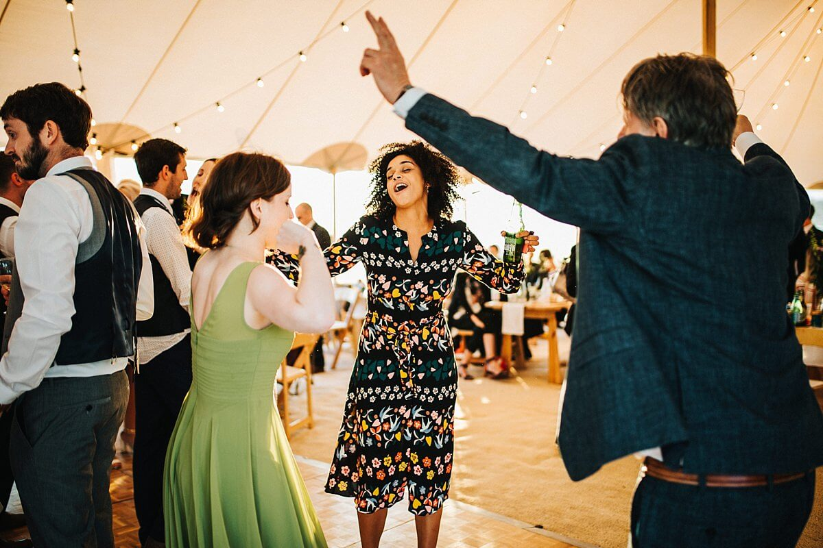 Party at the tent wedding