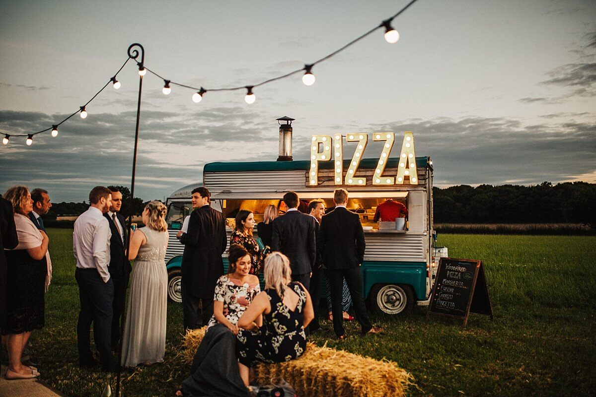 Pizza peddlers at the Cheshire wedding