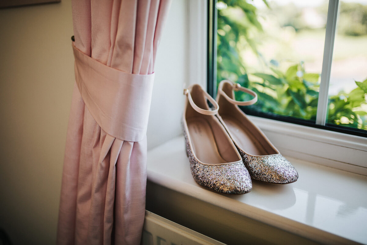Glittery wedding shoes Carvella