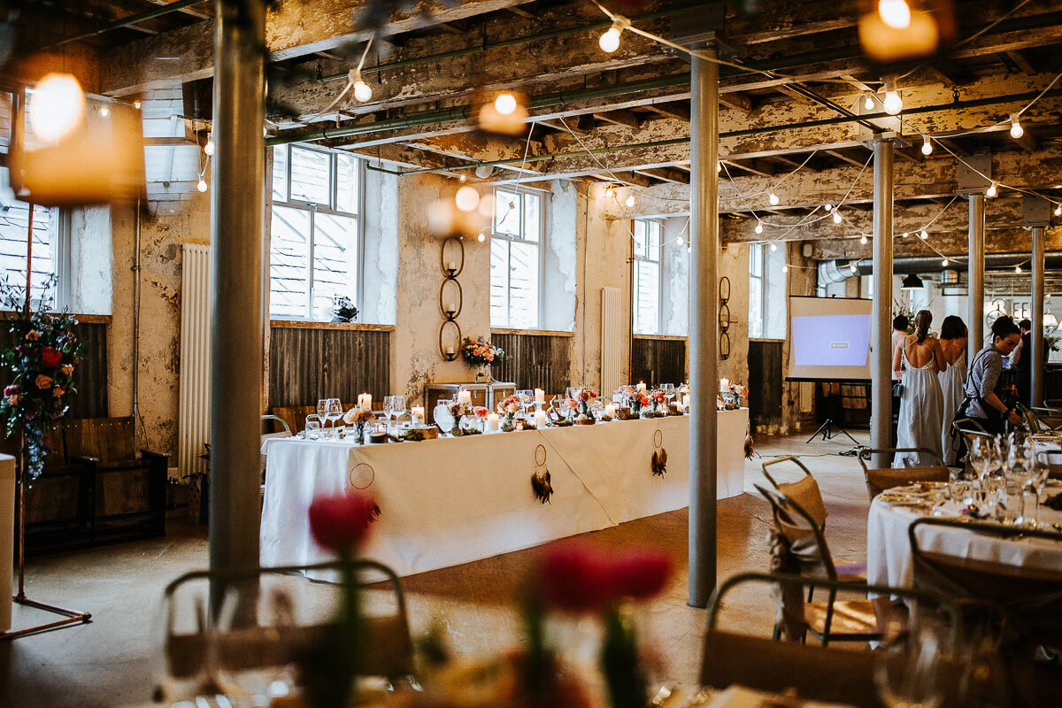 Industrial wedding venue Lancashire