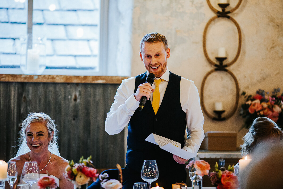 Groom's wedding speech