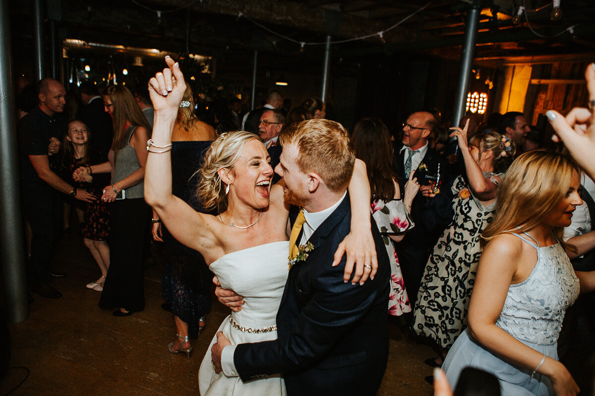 Fun industrial wedding Lancashire