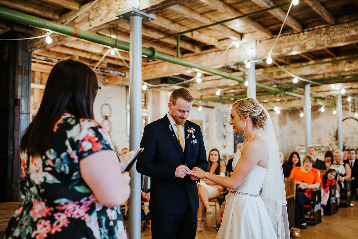 Industrial wedding venue Holmes Mill