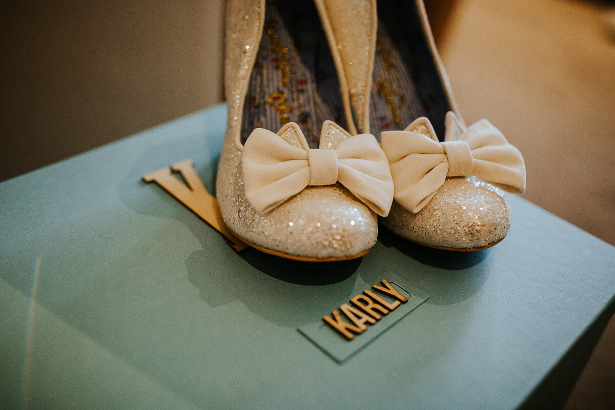 Glittered Irregular Choice wedding shoes