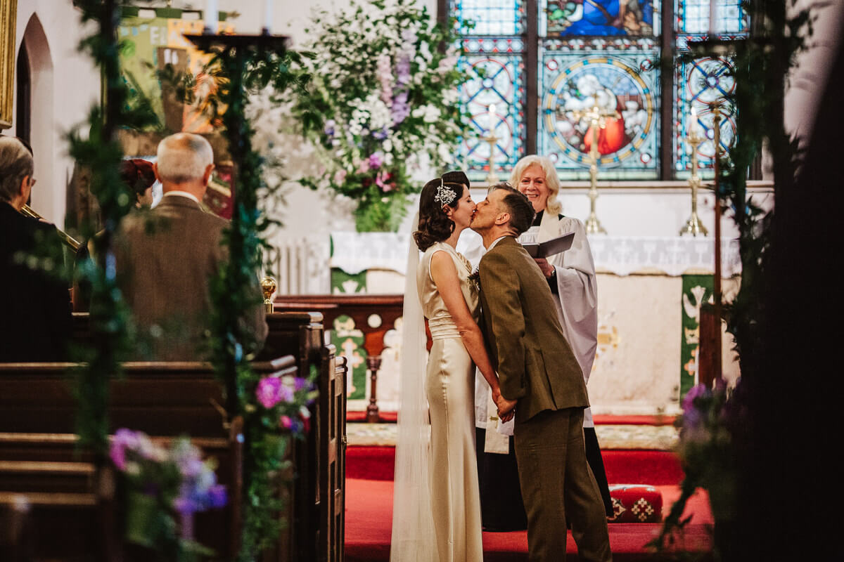 First kiss in the church