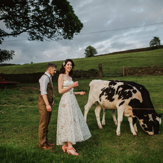Thornsett Fields Farm Wedding