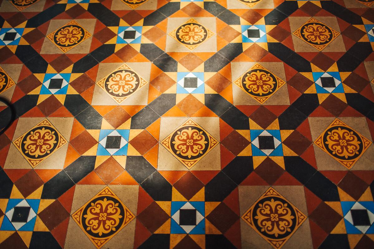 Victorian tiled floor Trevor Hall