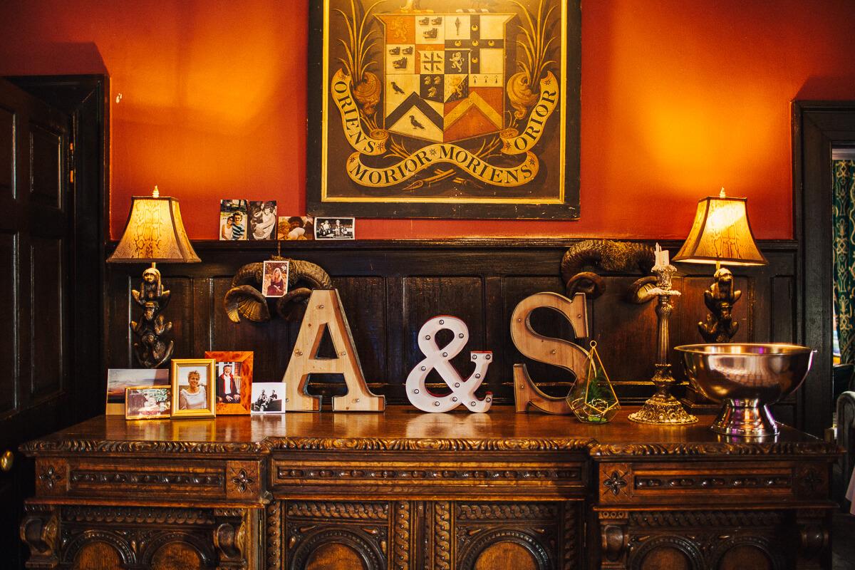 Light up letter wedding decoration