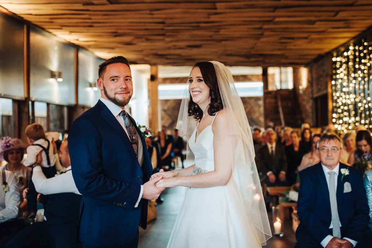 Cheshire barn wedding ceremony