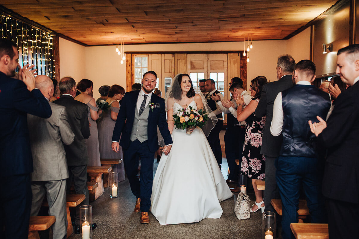 Cheshire wedding barn ceremony
