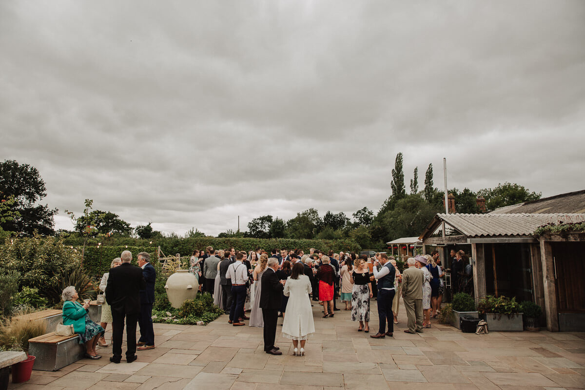 Drinks reception at Owen House in Cheshire