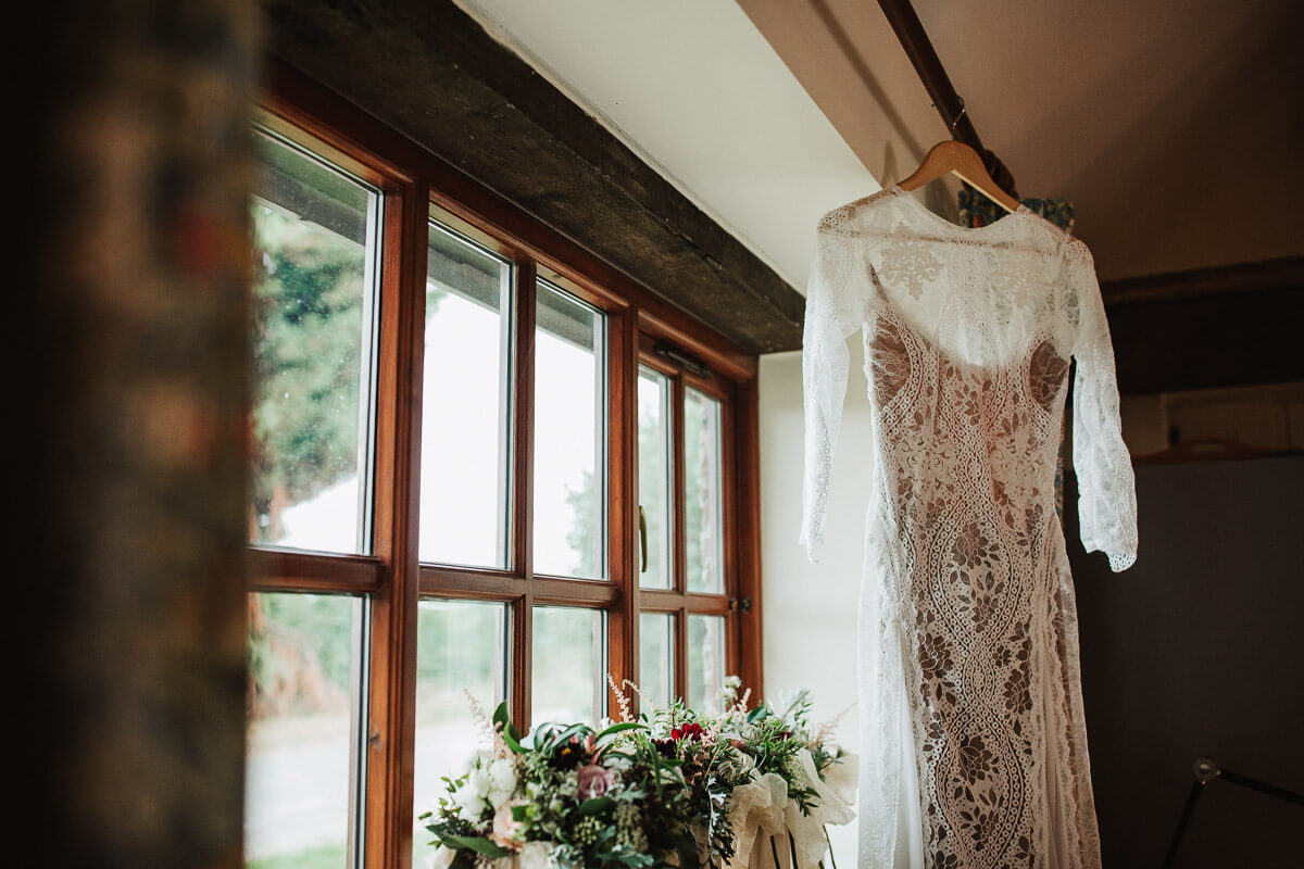 Boho style wedding dress from Grace Loves Lace