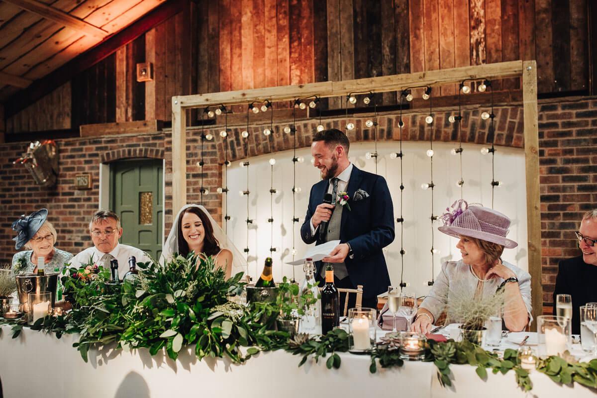 Cheshire wedding speech