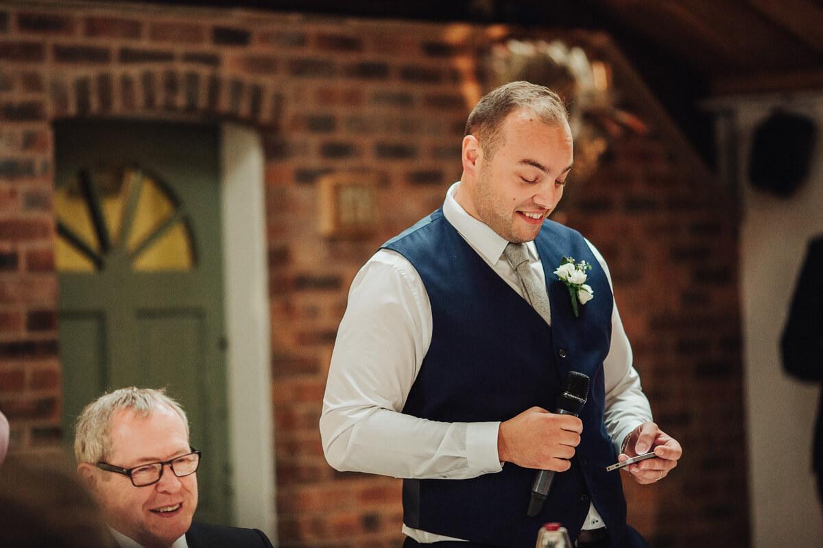 Best man speech at Cheshire wedding