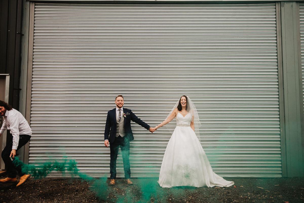 Fun wedding photos at Owen House Barn