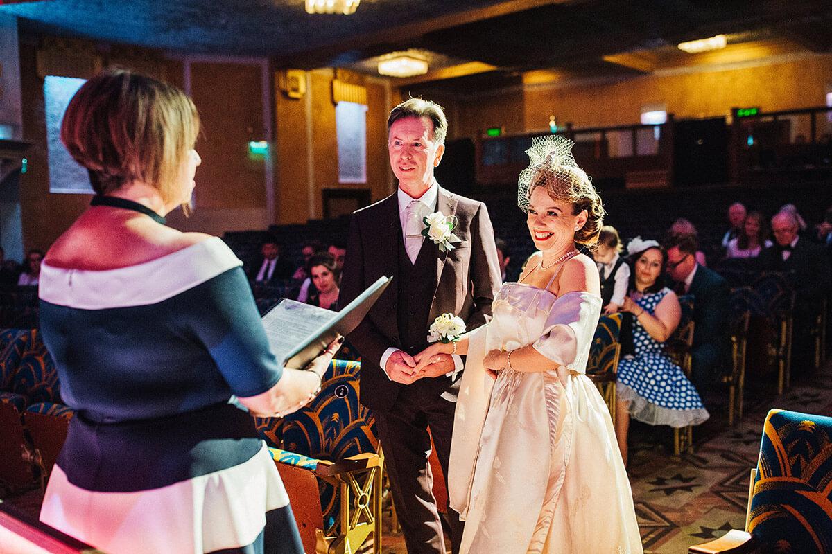 Plaza cinema wedding ceremony