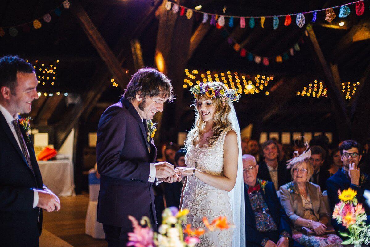 Colourful Rivington Hall Barn Wedding