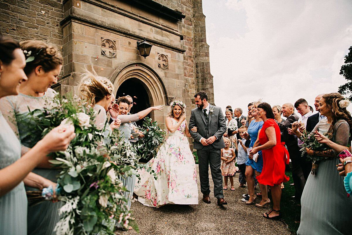 Confetti wedding photograph Lancashire