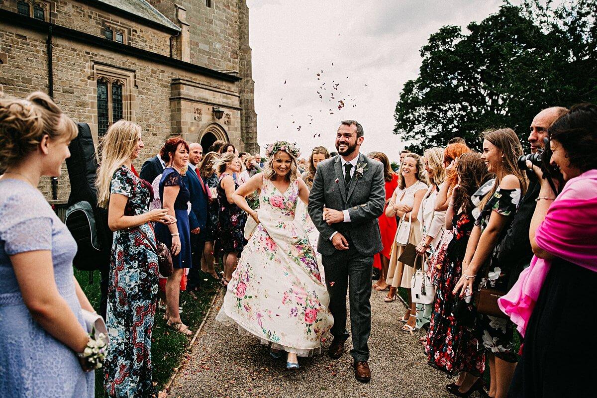 Epic confetti wedding photo