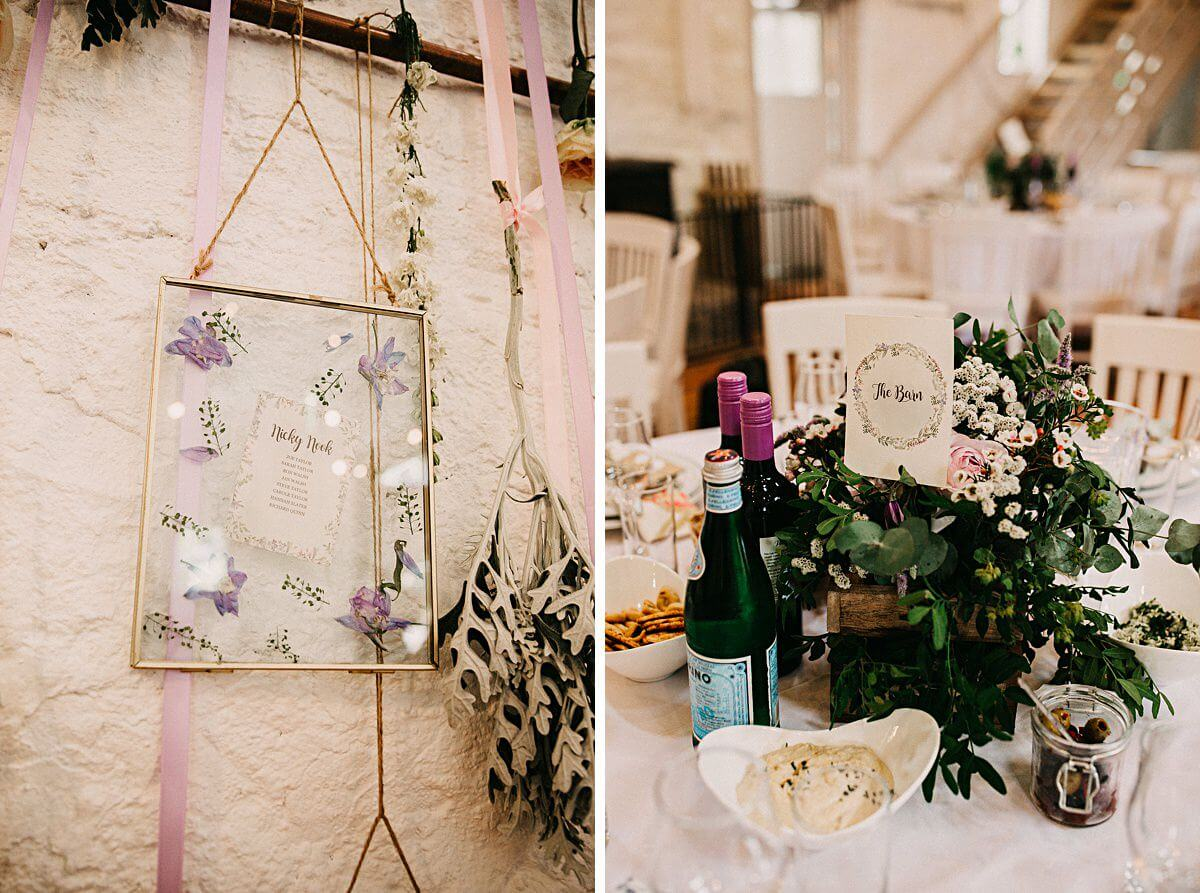 Floral rustic wedding details