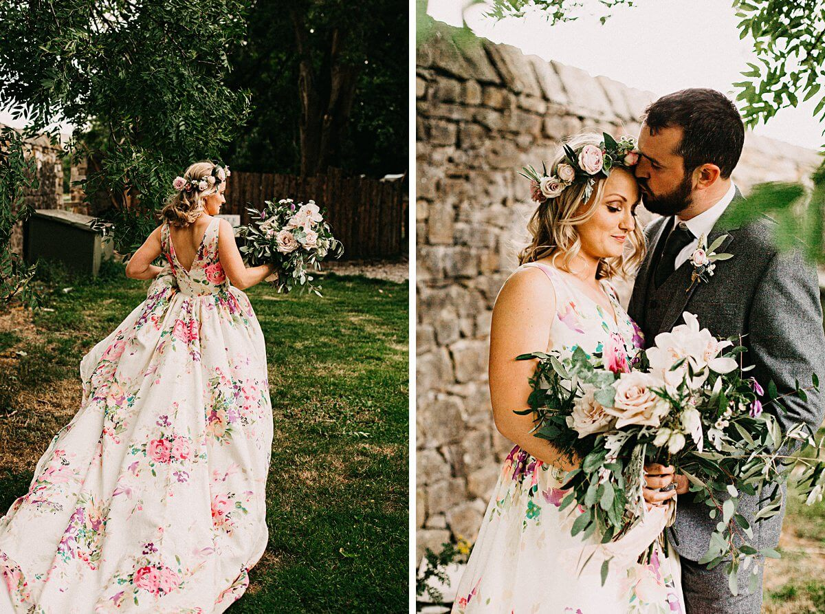 Boho wedding portraits