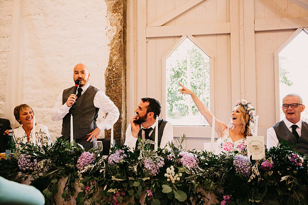 Wyresdale Park wedding speeches