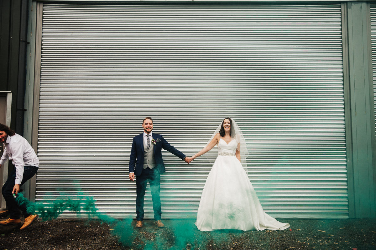 Creative wedding photo at Owen House Wedding Barn