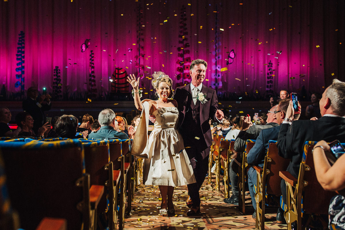 Vintage cinema wedding Manchester