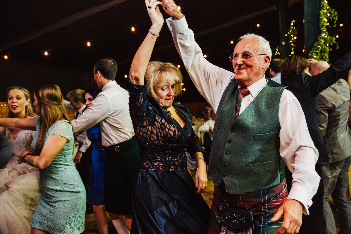 Ceilidh dancing at Stock Farm Cheshire
