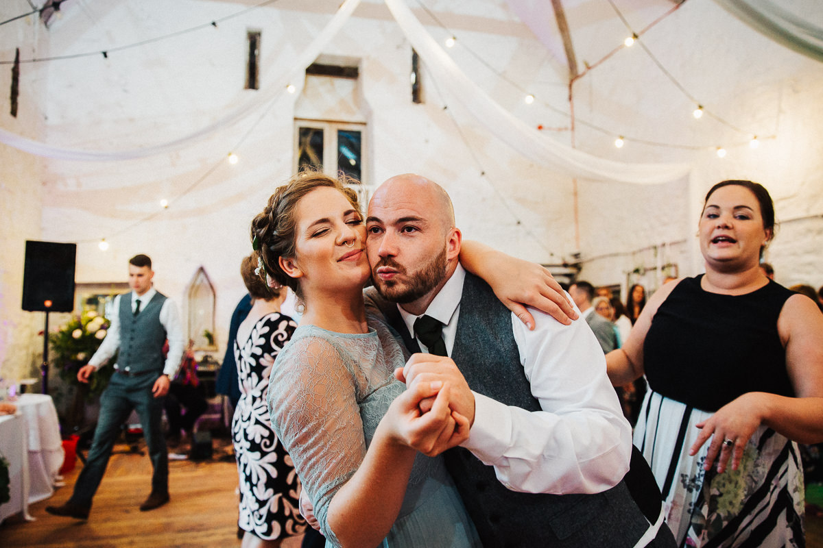 Guests dancing at Wyresdale Park wedding