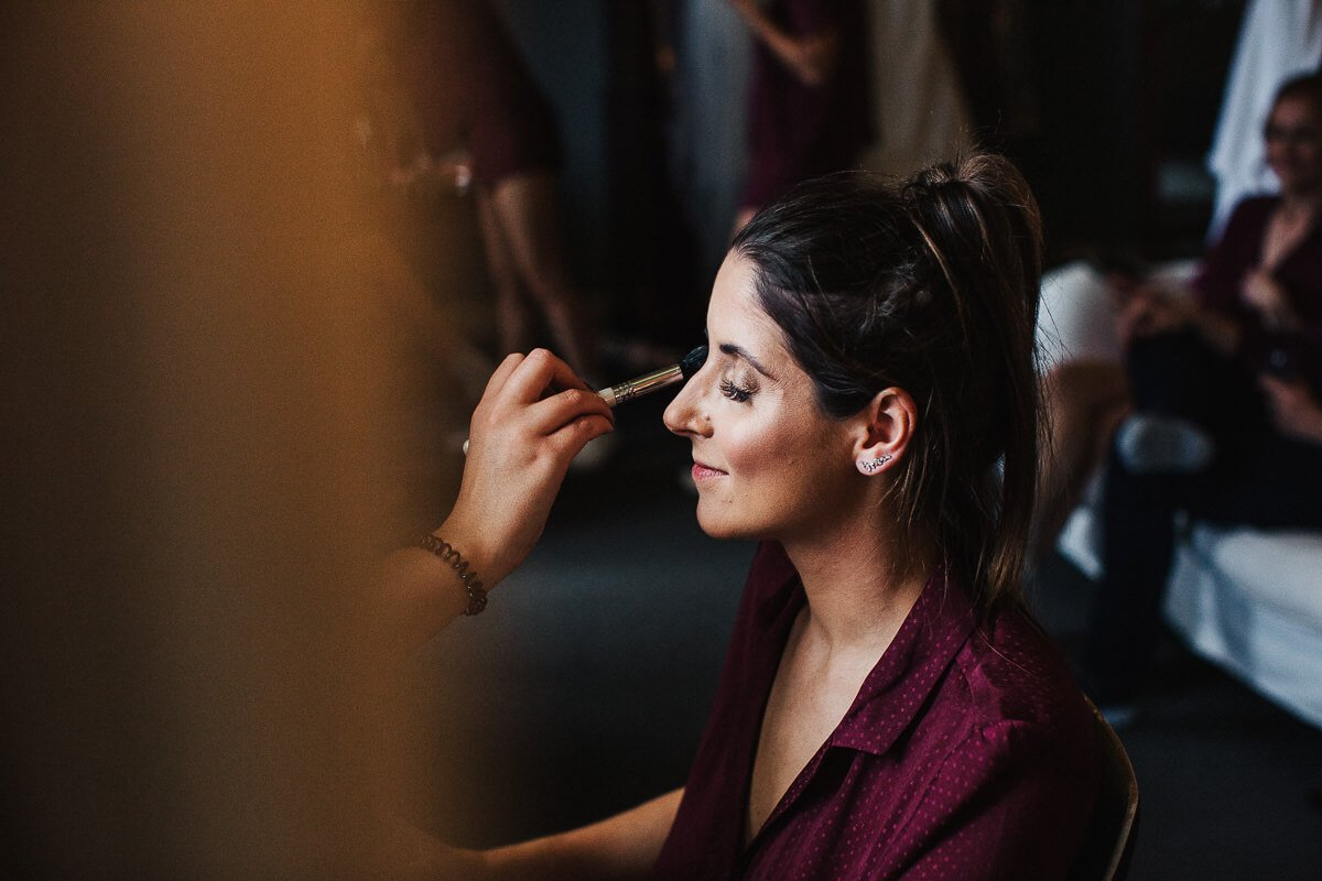 Wedding makeup in Cumbria