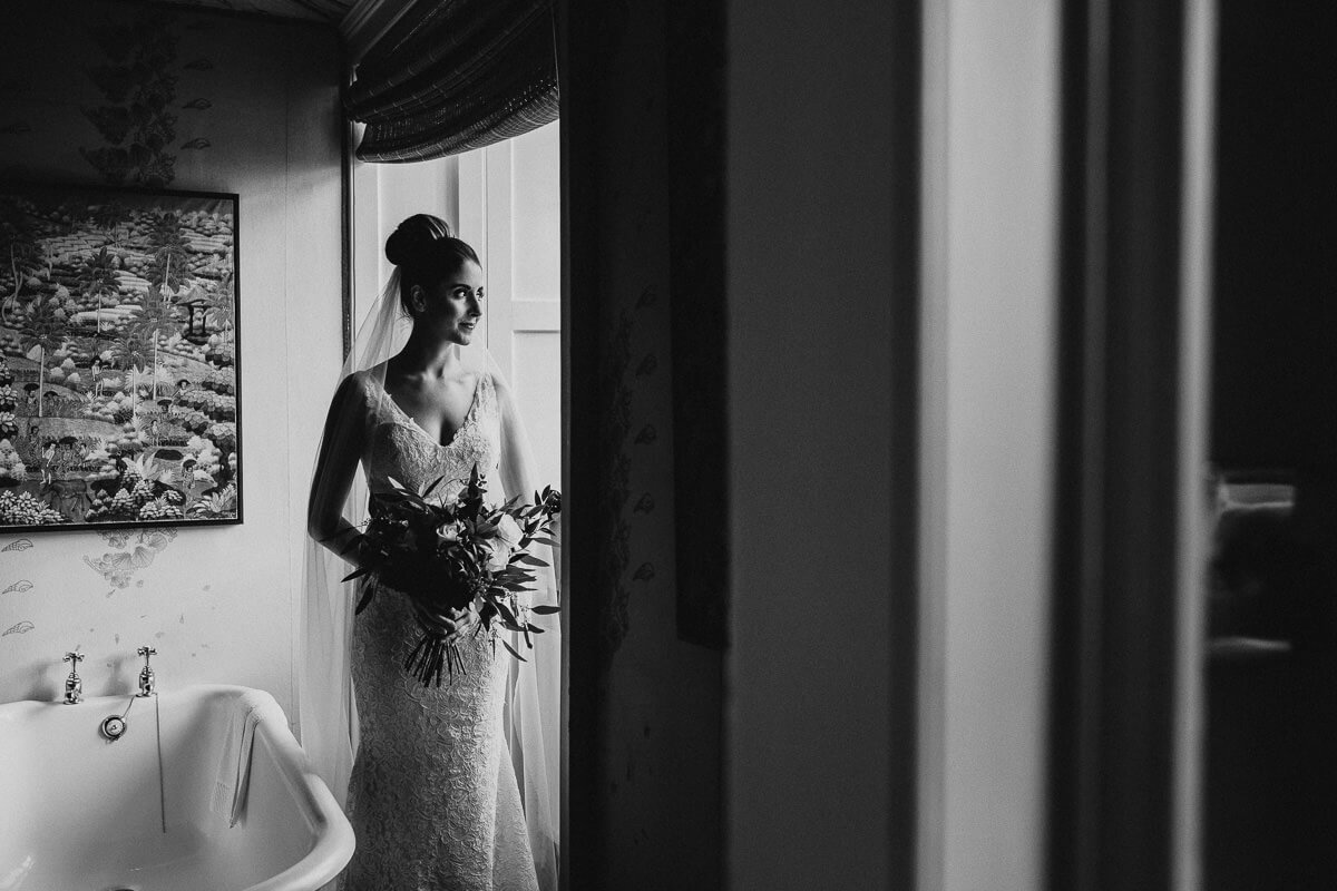 Bride portrait at Askham Hall