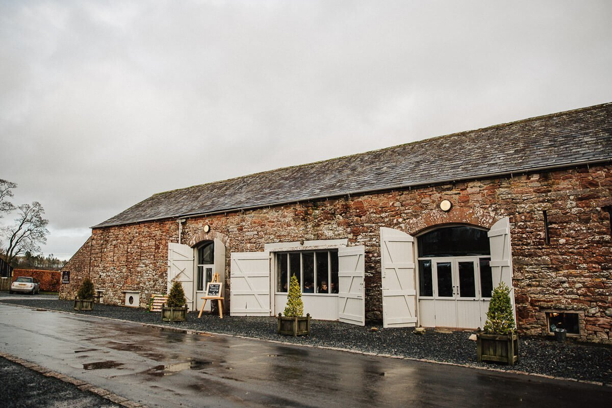 Askham Hall wedding barn Cumbria