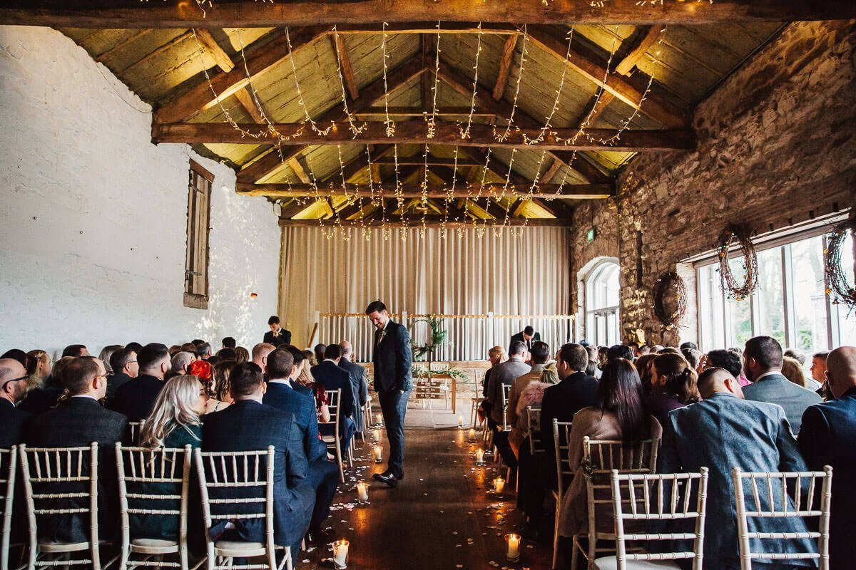 Guests at the ceremony at Askham Hall