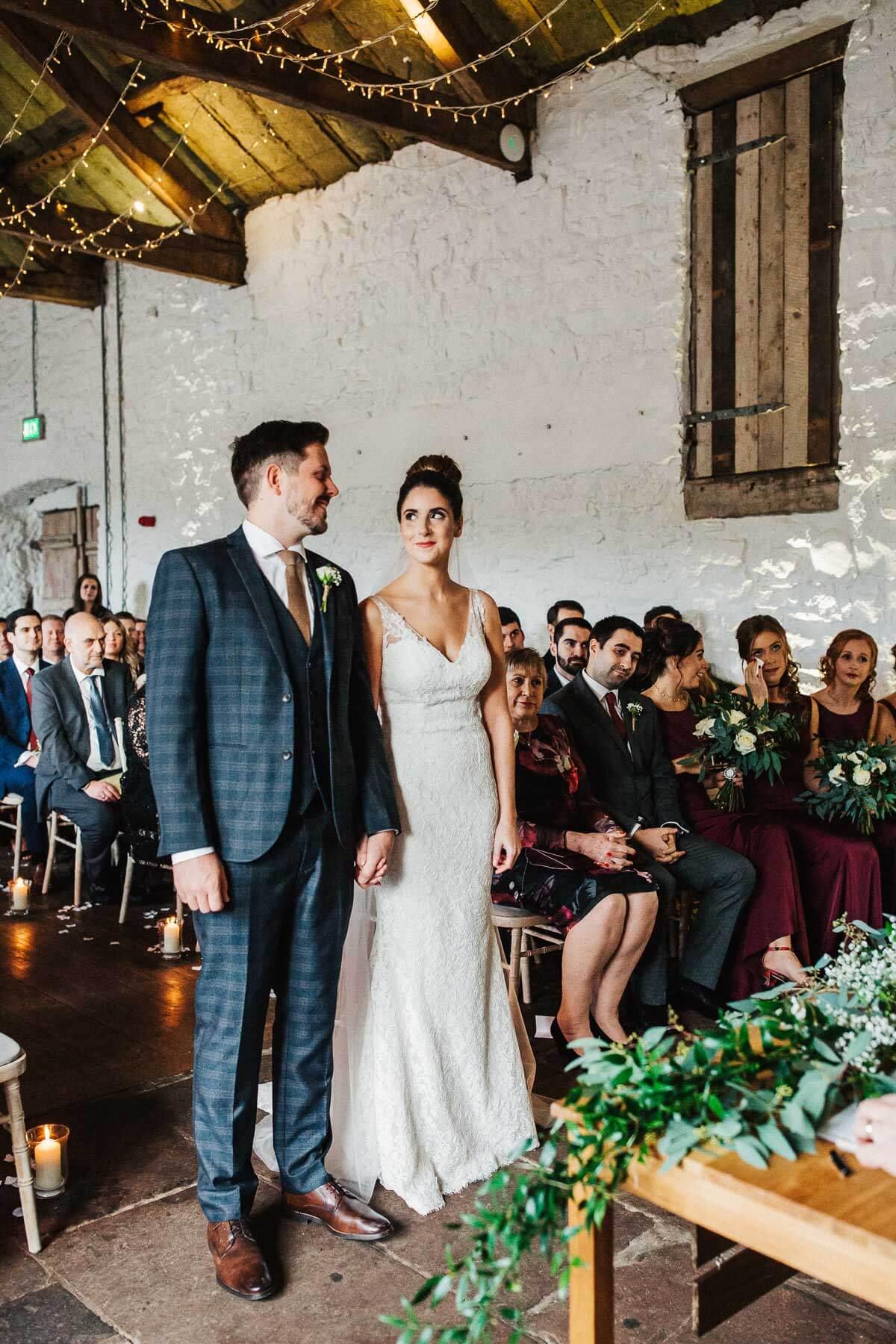 Barn wedding Lake District