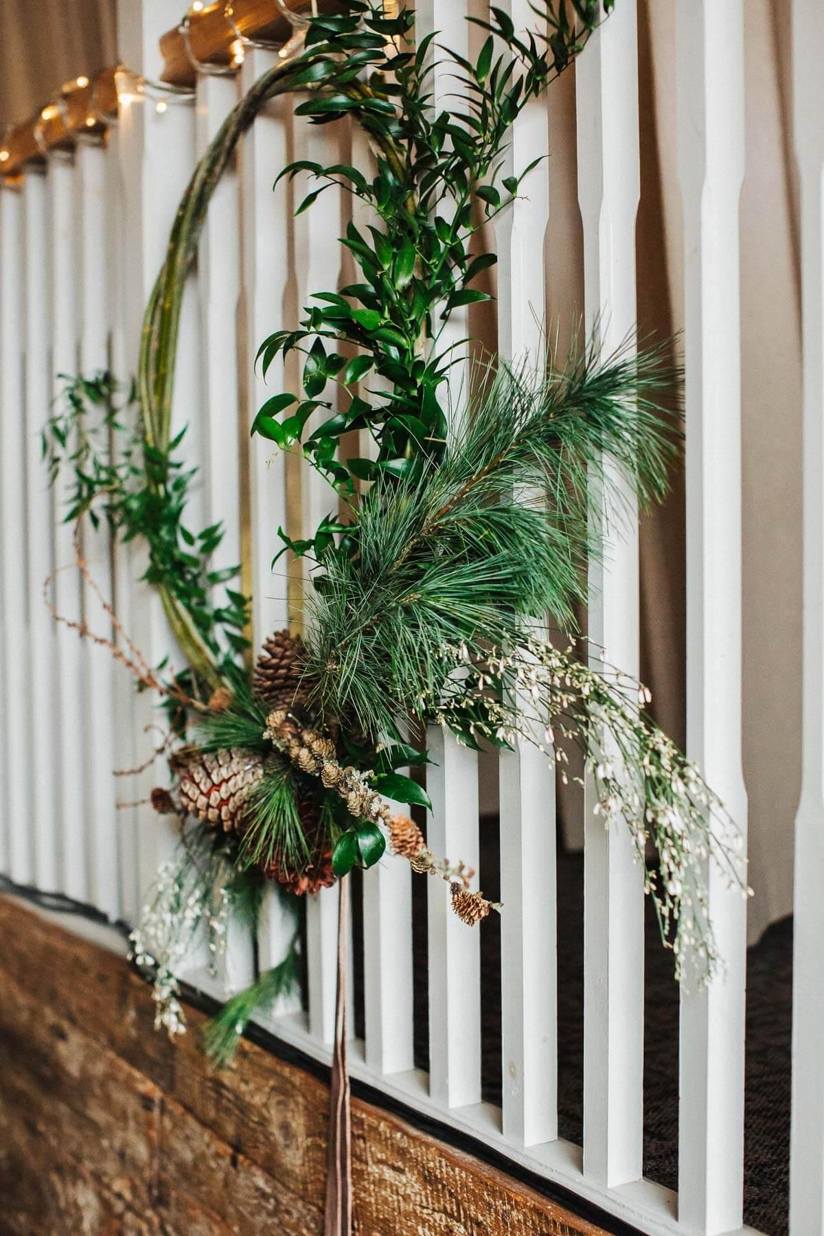 Woodland wedding hoops