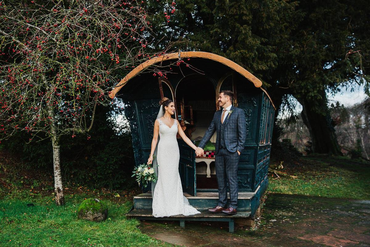 Askham Hall wedding portrait