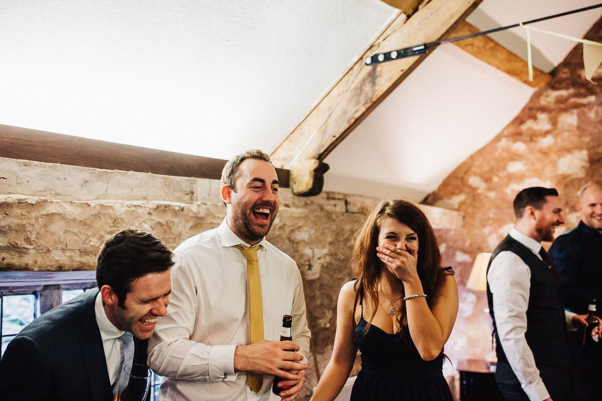 Guests having fun at the Askham Hall wedding