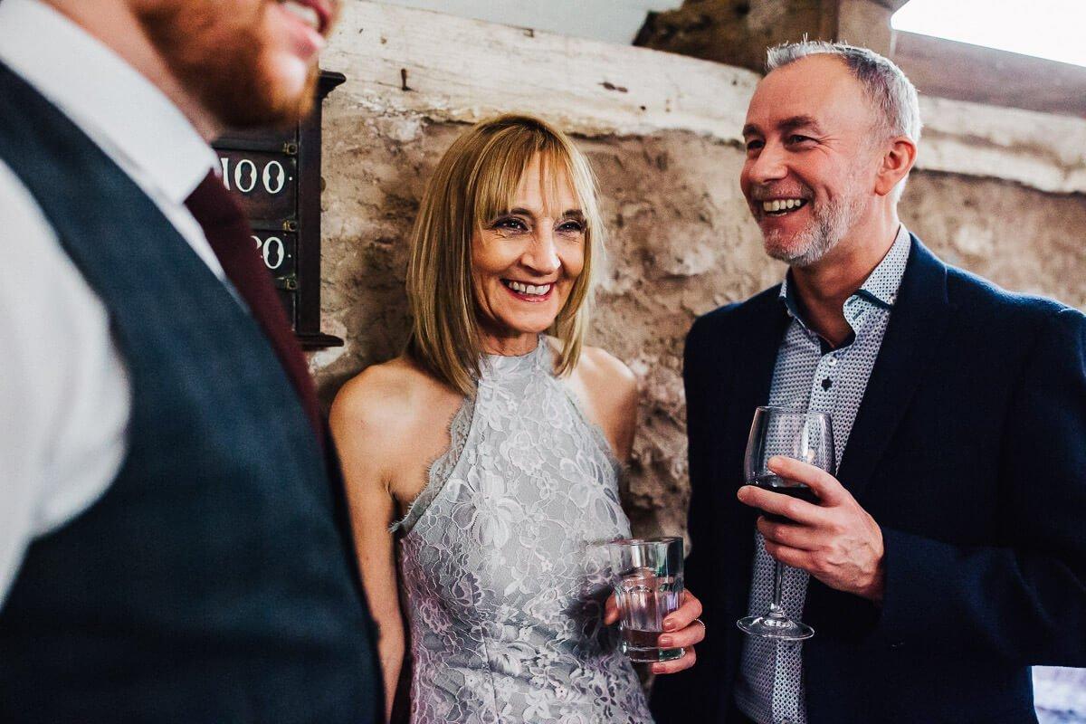 Drinks reception at Cumbria wedding