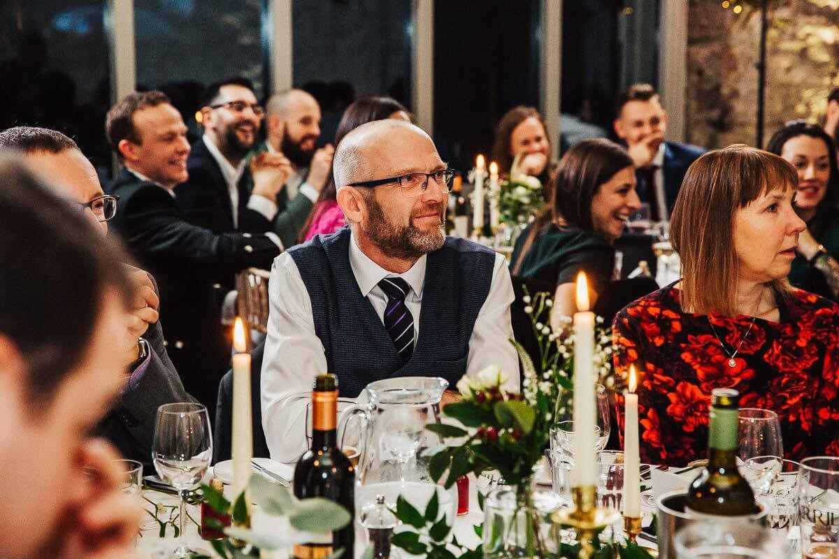 Natural photo of the guests during speeches