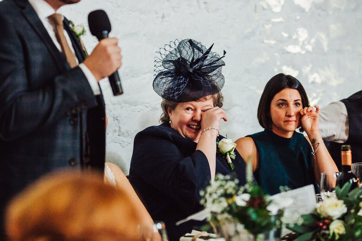 Happy tears during speeches