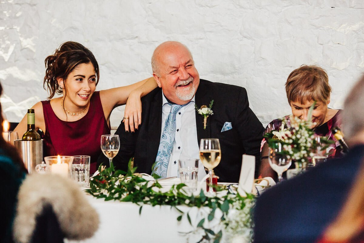 Happy parents at the wedding