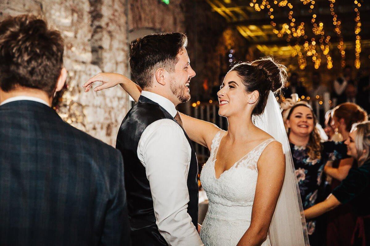 Couple's first dance Cumbria wedding