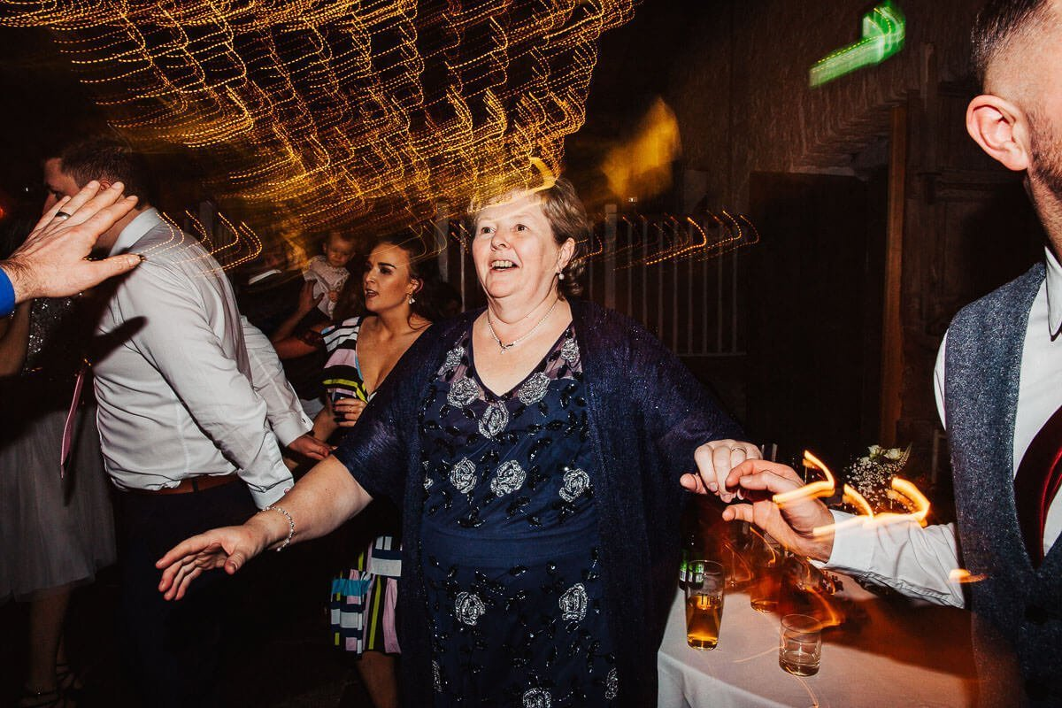 Dancing at the wedding barn Cumbria