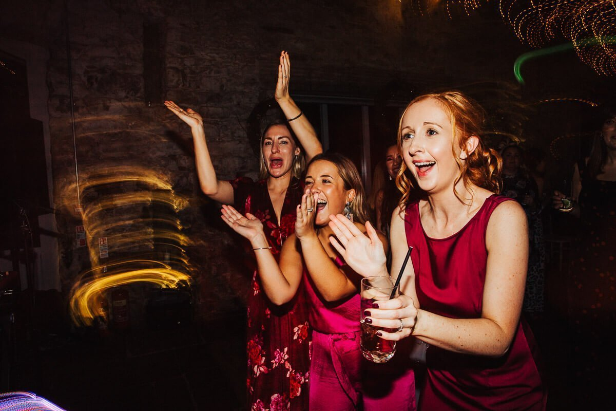 Fun wedding photos of the evening